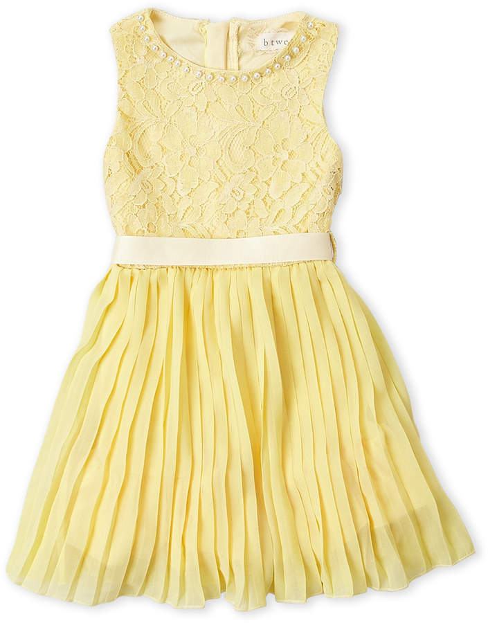 Btween (Toddler Girls) Yellow Lace Fit & Flare Dress