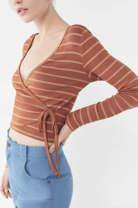 Urban Outfitters Winston Wrap Cropped Top