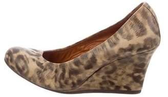 Lanvin Leopard Wedge Pumps