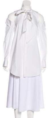 Monse Cold-Shoulder Long Sleeve Top