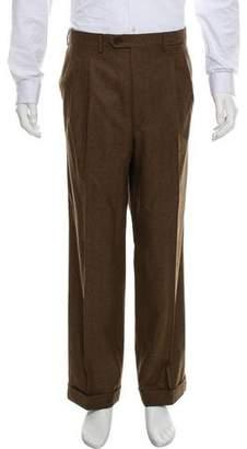 Luciano Barbera Wool Flat-Front Pants