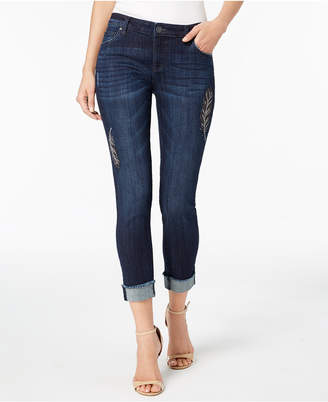 KUT from the Kloth Petite Amy Embroidered Ankle Jeans