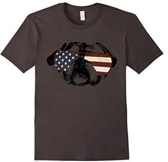 Cute Pug Dog With America Flag Sunglasses T-Shirt