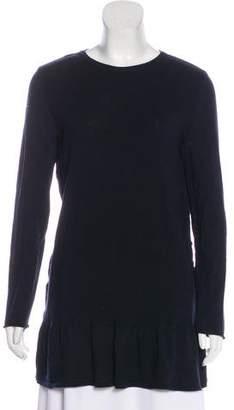 Alberta Ferretti Flounced Virgin Wool Sweater