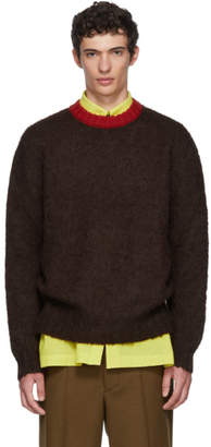 Marni Burgundy Mohair Knit Sweater