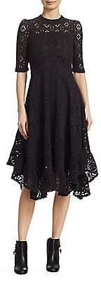 See by Chloe Women's Lace Jersey Midi Dress