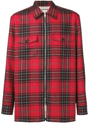 Gucci zipped tartan shirt