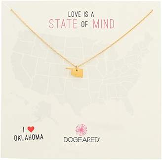 Dogeared State of Mind Oklahoma -Plated Sterling Silver Chain Necklace