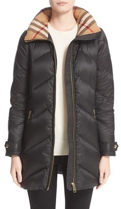 Women's Burberry Eastwick Chevron Quilted Coat $995 thestylecure.com