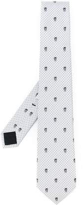 Alexander McQueen skulls and dots tie