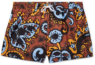 Dunhill Short-Length Paisley-Print Swim Shorts