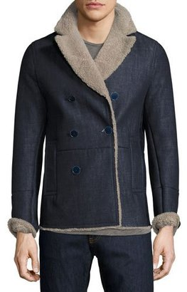 Valentino Denim Jacket with Shearling Lining $4,050 thestylecure.com