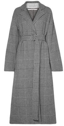 Gabriela Hearst Souza Belted Houndstooth Cashmere-blend Coat - Gray