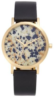 Women's Cluse La Roche Small Stone Leather Strap Watch, 33Mm $179 thestylecure.com