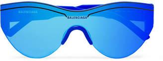 Balenciaga Round-Frame Acetate Mirrored Sunglasses