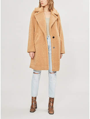 KENDALL + KYLIE KENDALL & KYLIE Notch-lapel faux-fur teddy coat