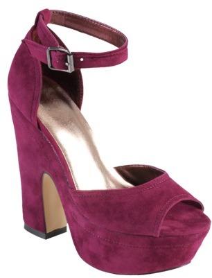 Hailey Jeans Co. Womens Peep Toe Ankle Strap Platform Heels