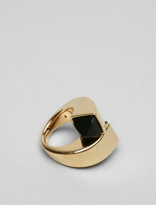 Juicy Couture Black Onyx Geometric Ring