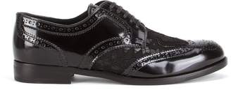 Dolce & Gabbana lace embellished brogues
