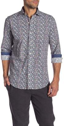 Bugatchi Patterned Long Sleeve Shaped Fit Shirt
