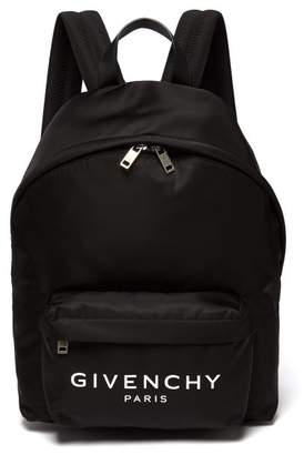 Givenchy Urban Leather Trimmed Nylon Backpack - Mens - Black