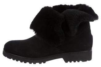 Barneys New York Barney's New York Suede Round-Toe Mid-Calf Boots Black Barney's New York Suede Round-Toe Mid-Calf Boots
