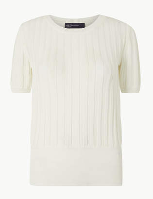 Marks and Spencer Textured Round Neck Knitted Top