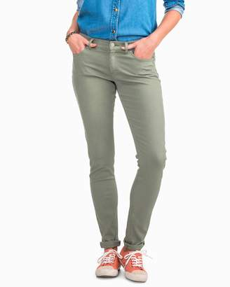 Southern Tide Resort Colored Skinny Jean - Seagrass Green