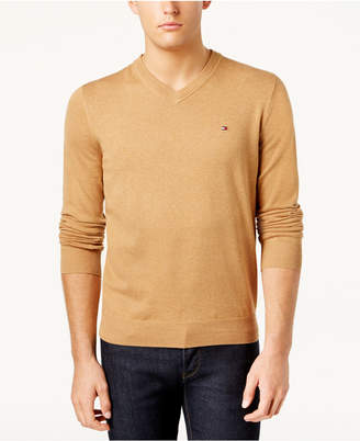Tommy Hilfiger Men Signature Solid V-Neck Sweater