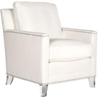 Safavieh Hollywood Glam Tufted Acrylic White Club Chair W/ Silver Nail Heads