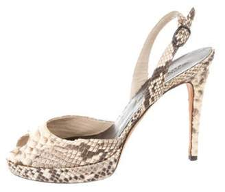 Ralph Lauren Python Platform Slingback Sandals multicolor Python Platform Slingback Sandals