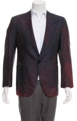 Valentino Ombré Metallic-Accented Blazer