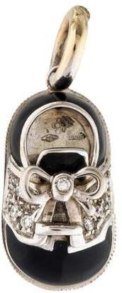Aaron Basha 18K Diamond & Enamel Saddle Shoe Charm