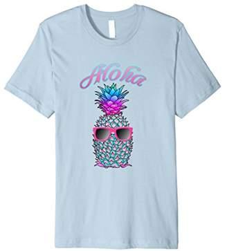 Cool Colorful Hawaiian Pineapple Aloha T-Shirt
