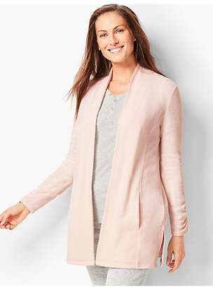 Talbots Brushed Melange Open-Front Cardigan
