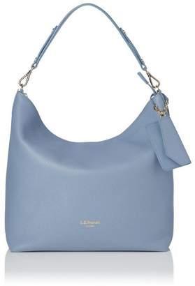 LK Bennett Margot Blue Leather Shoulder Bag
