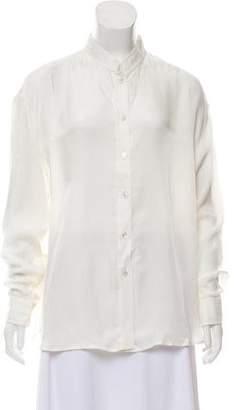 La Garçonne Moderne Long Sleeve Button-Up Top w/ Tags