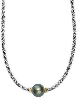 """Lagos Luna Tahitian Pearl Rope Necklace, 18"""""""