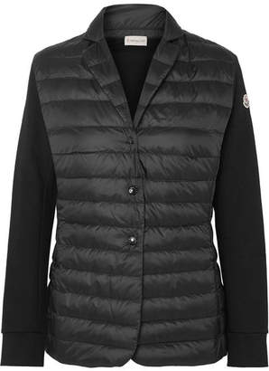 Moncler Cotton-jersey And Quilted Shell Jacket - Black