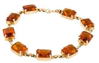 Cartier 14K Citrine Link Bracelet