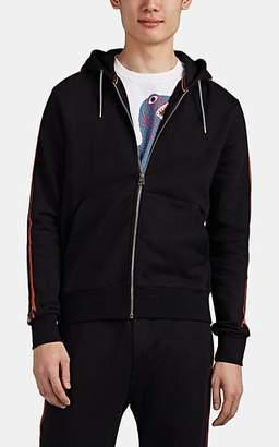 Paul Smith Men's Striped Cotton Zip-Front Hoodie - Black
