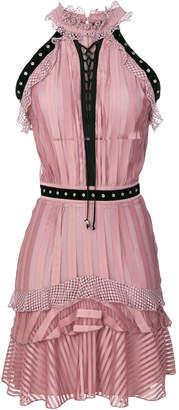 Just Cavalli eyelets embellished dress