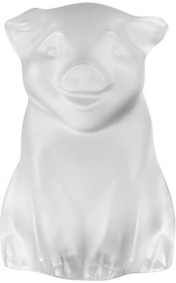 Lalique Pig Sculpture - Clear
