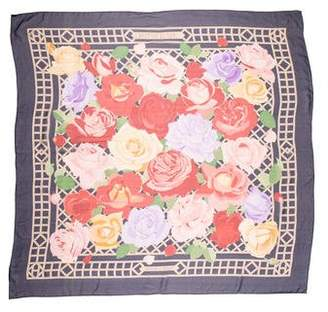 Hermes Roseraie Silk Mousseline Shawl
