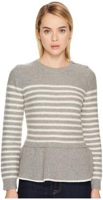 Kate Spade Stripe Peplum Sweater Women's Sweater