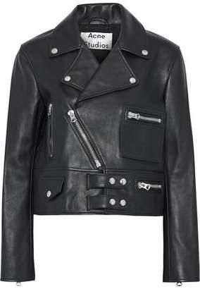 Acne Studios Suokki Leather Biker Jacket