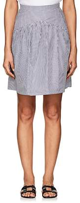 Atlantique Ascoli Women's Jupe Striped Cotton Skirt