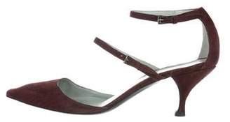 Sigerson Morrison Suede Ankle-Strap Pumps