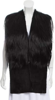 Fur Goat Hair Shawl Black Fur Goat Hair Shawl