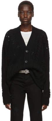 Amiri Black Multipoint Short Cardigan